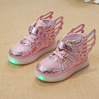 eeb5f13acbf82a Led shoes kids New 2017 kids shoes Fashion sneakers wings casual LED  Luminous Shoes Baby girls