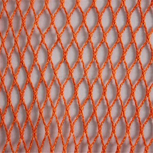 orange colour polyester fishing net/mesh