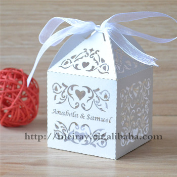 cfb6d848cb23 Amazing wedding gift items ideal products wedding items laser cut white  wedding favor boxes