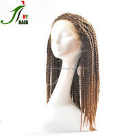 New Style Crochet Braids Human Hiar Wig Micro Braids Hair Lace Front Wig For African American