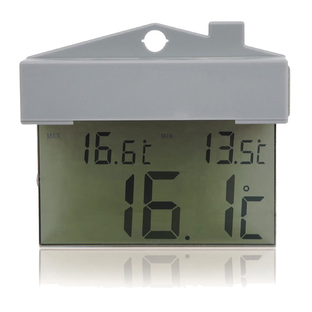 Suction Cup Digital Window Thermometer With Indoor Outdoor Weather Station