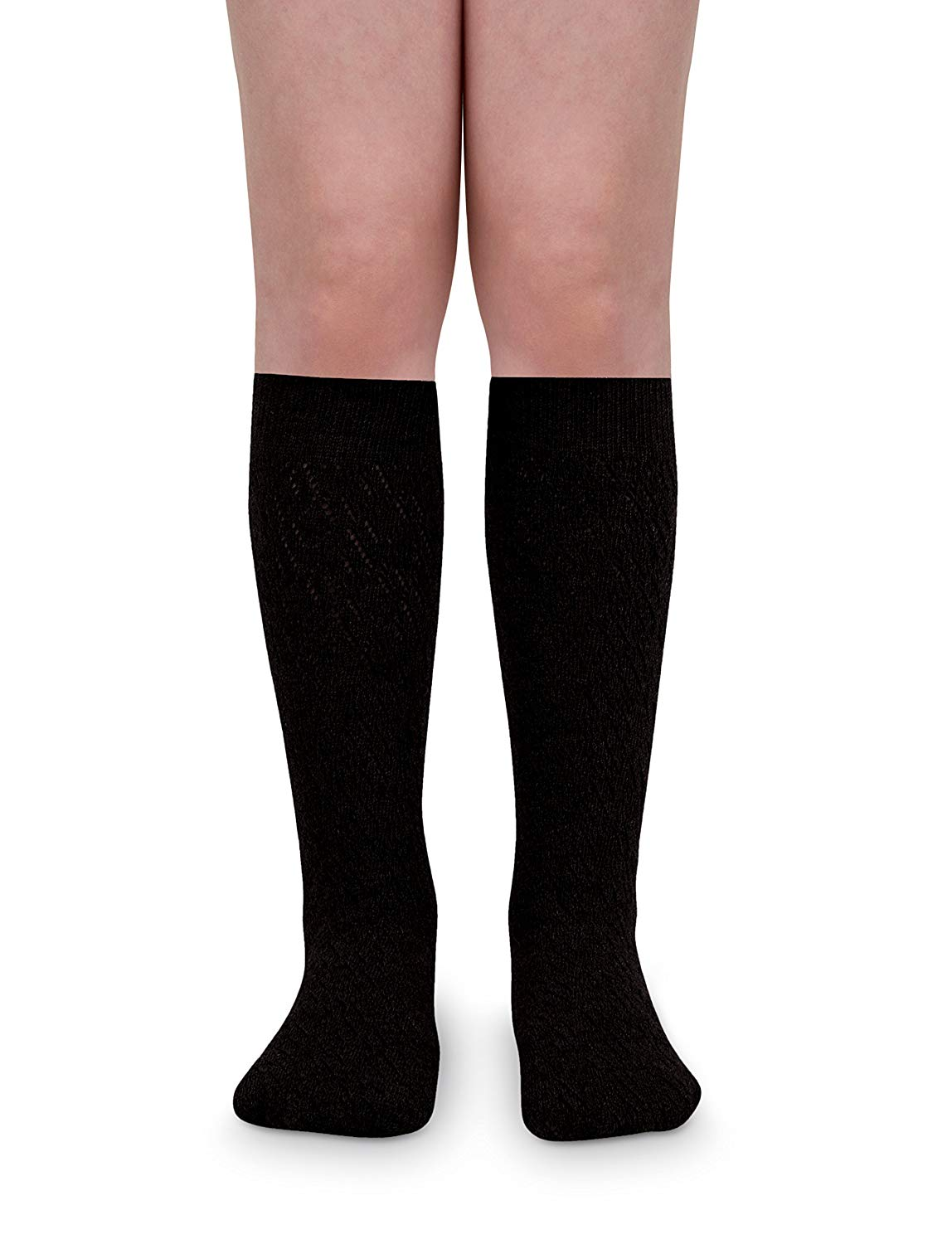 Jefferies Socks Girls School Uniform Nylon Dress Knee High Socks 2 Pair Pack