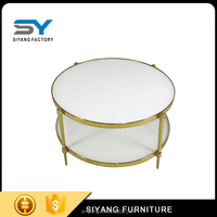 2017 glass top tea table coffee table with low price CJ019