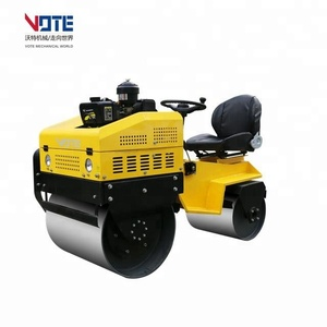 VT-700 China small mini hydraulic vibratory double drum road roller with a seat