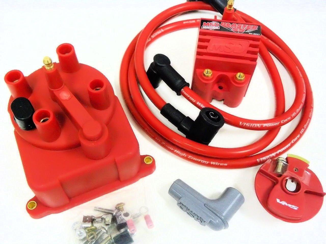 Buy 92 95 Honda Civic External Coil Distributor Cap Conversion Kit Wiring Harness Msd Blaster Ss