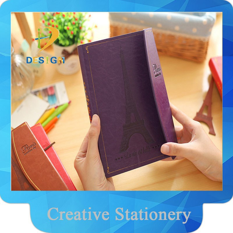 Factory direct sale high quality leather cover notebook/diary