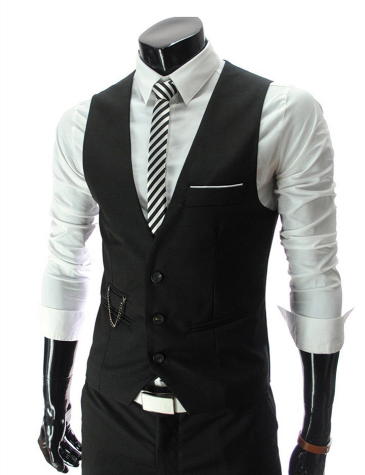 2015 New Arrival Men Suit Dress Vests Men s Fitted Leisure Waistcoat Casual Business Jacket Tops