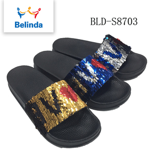 new fashion wholesale women fancy thick sole pu slippers designs for sale