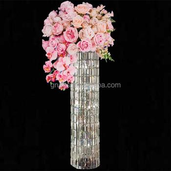 Modern Festival Party Clear Acrylic Wedding Columns Flower Stand