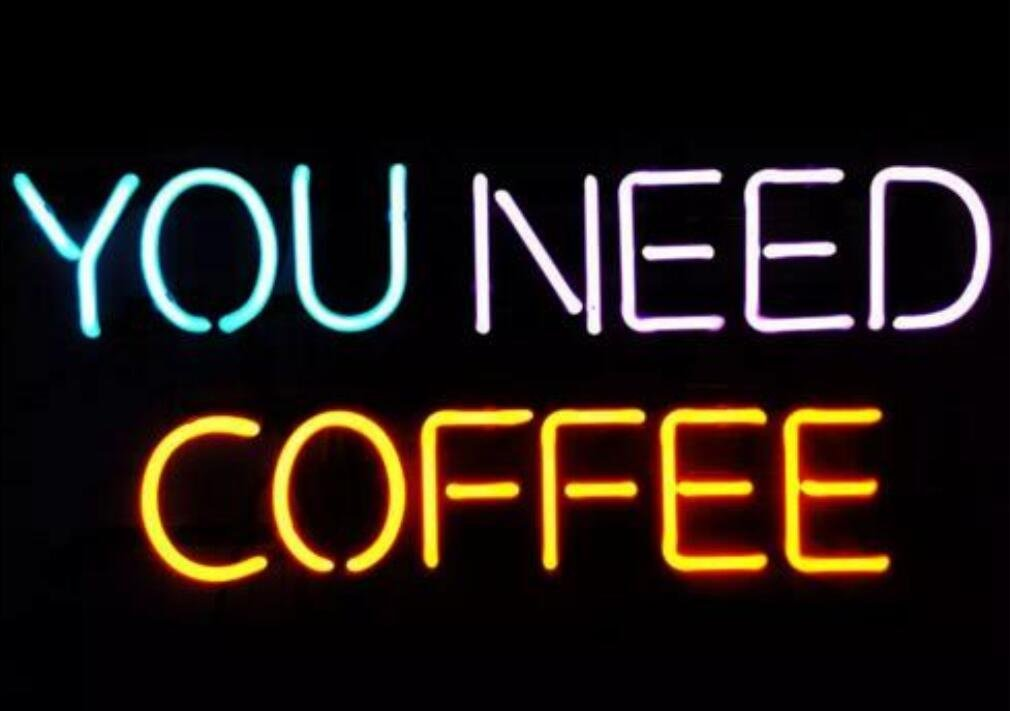 "Mirsne neon Signs, Glass Tube neon Lights, 17"" by 14"" inch You Need Coffee neon Signs bar, The Best neon Sign Custom Supplied for a Wide Range of Personal uses."