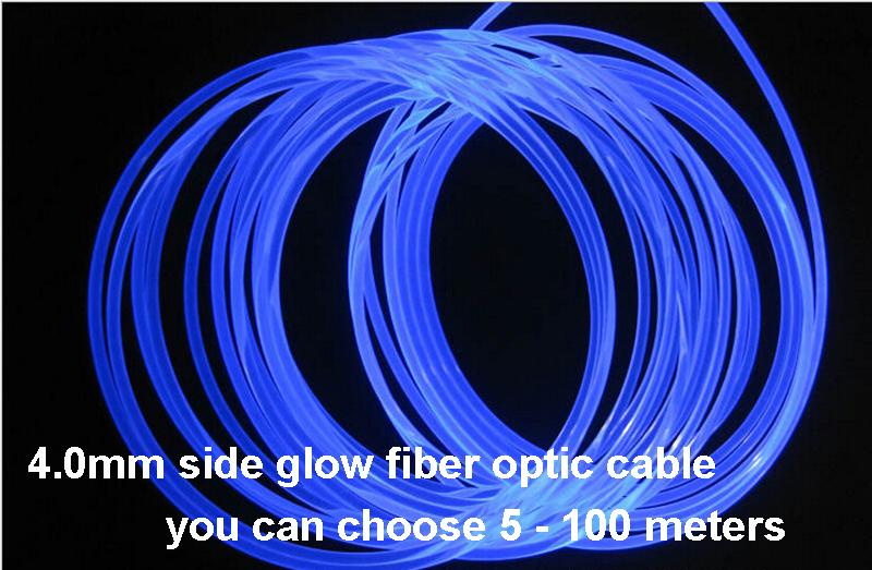 Side Glow Pmma Fiber Optic Cable