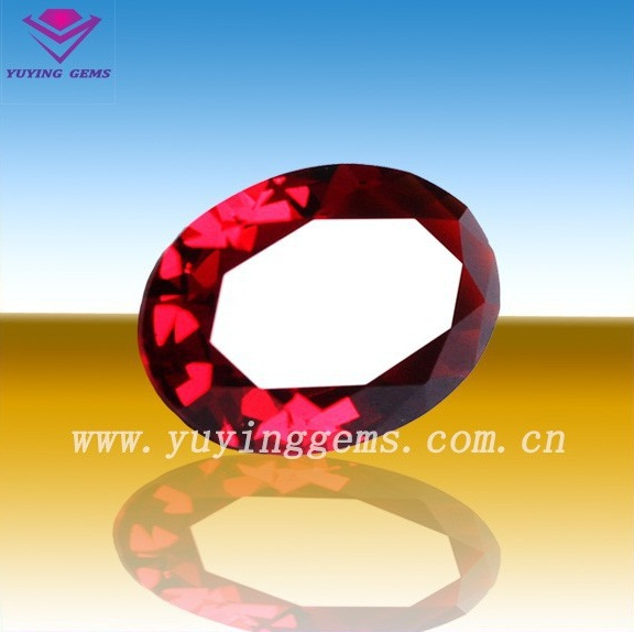 good quality natural ruby oval shape loose ruby gemstone custom printed healing stone beads from china factory