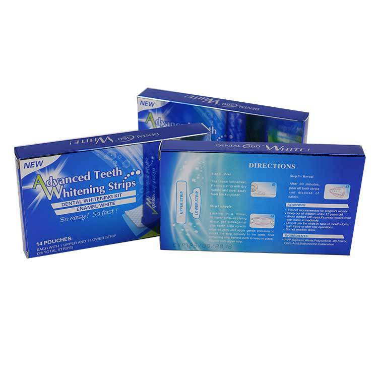 Dental tooth bleken mint smaak geavanceerde tanden whitening strips private label