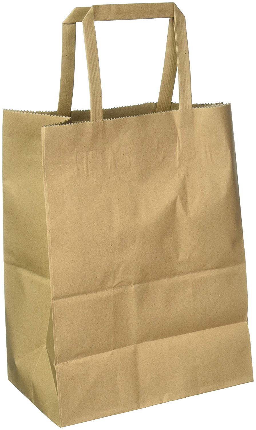 Thick Paper White Kraft Bags with Handles 8x4.75x10 Inch 25 Pack Bagmad Medium Shopping Paper Bags,Natural Party Retail Gift Craft Bags 25Pcs Count