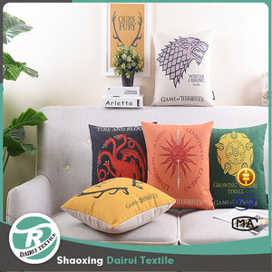 High quality outdoor Arabic hotel dining room print cushion with pillow insert