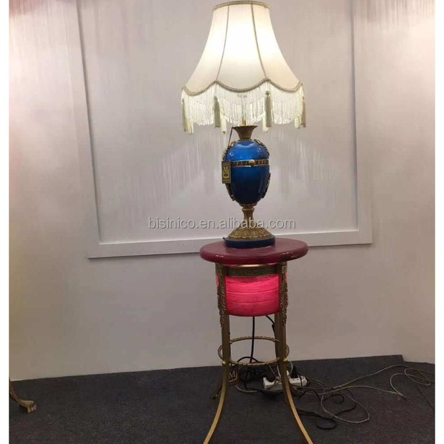 Extraordinary French Blue Onyx Table Lamp Made Of Bronze With Elegant  Lampshade