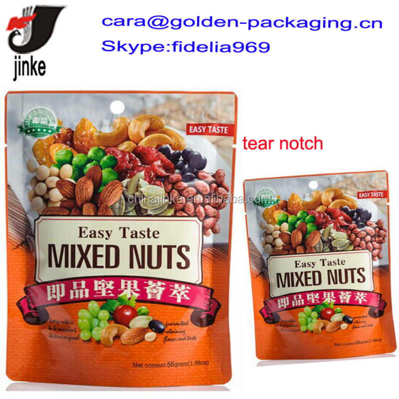 Printed nuts packaging bags