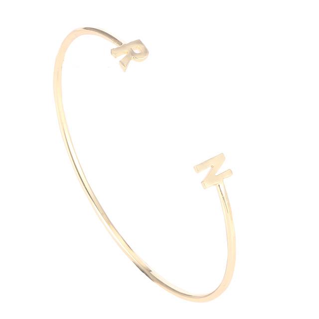 f78c6e8a7be9 Etsy nombre personalizado brazalete pulsera para las mujeres respetuoso del  medio ambiente de latón inicial personalizado