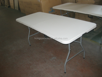 Pure White Color Folding Table/outdoor Long Table In 71inches/lowes  Converible Plastic Table