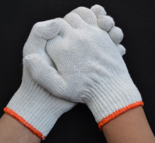 Cheapest Mix Colored Safety Work Knitted Poly Cotton Glove/Guantes De Algodon