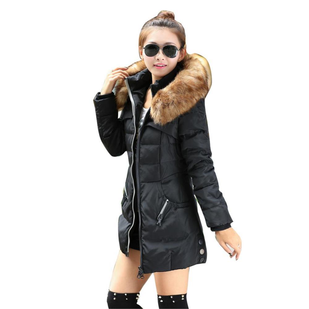 2015 зима женщины куртка верхняя одежда утка пуховик с большой меховой воротник Большой размер s-xxxl утолщение длинное пальто