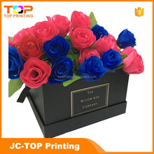 New design fashion cardboard rose flower gift packaging box supplier in Guangdong