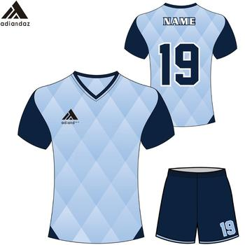 dcf46a5ae Chinese factory design wholesale cheap price custom polyester material  newest style hot selling soccer jersey with