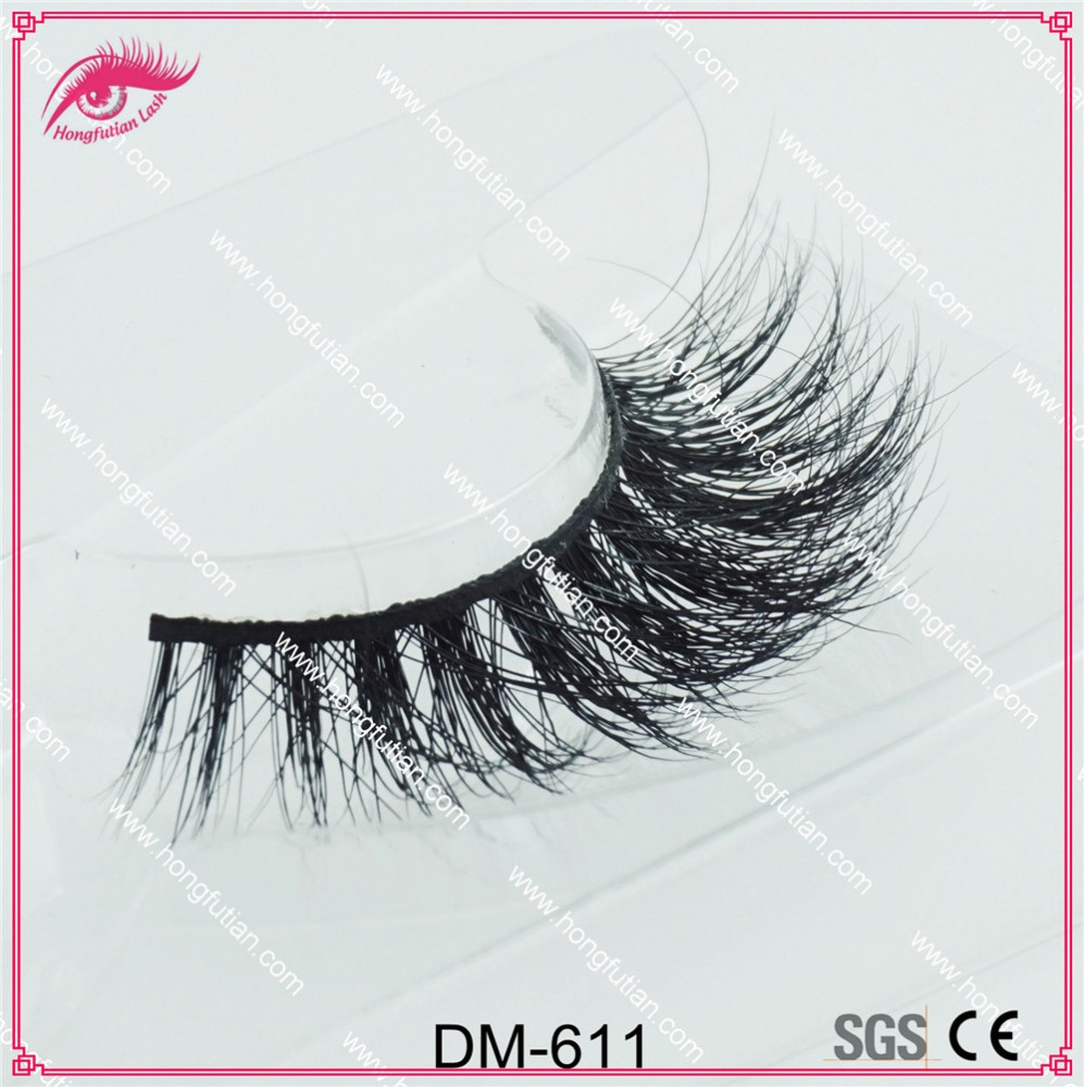3Dmink fur Strip eyelash with customized packaging box