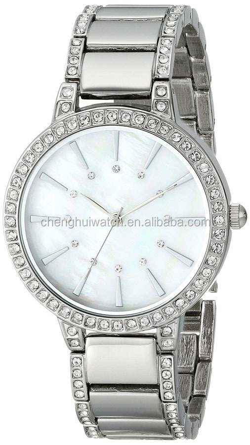 Classic Ascot Prime Stainless Steel Bracelet Watch with Rose Gold Bezel with diamond case watch
