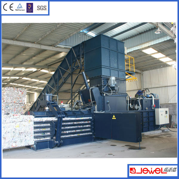 Shanghai Manufacturer Automatic Waste Paper And Carton Press Baler ...