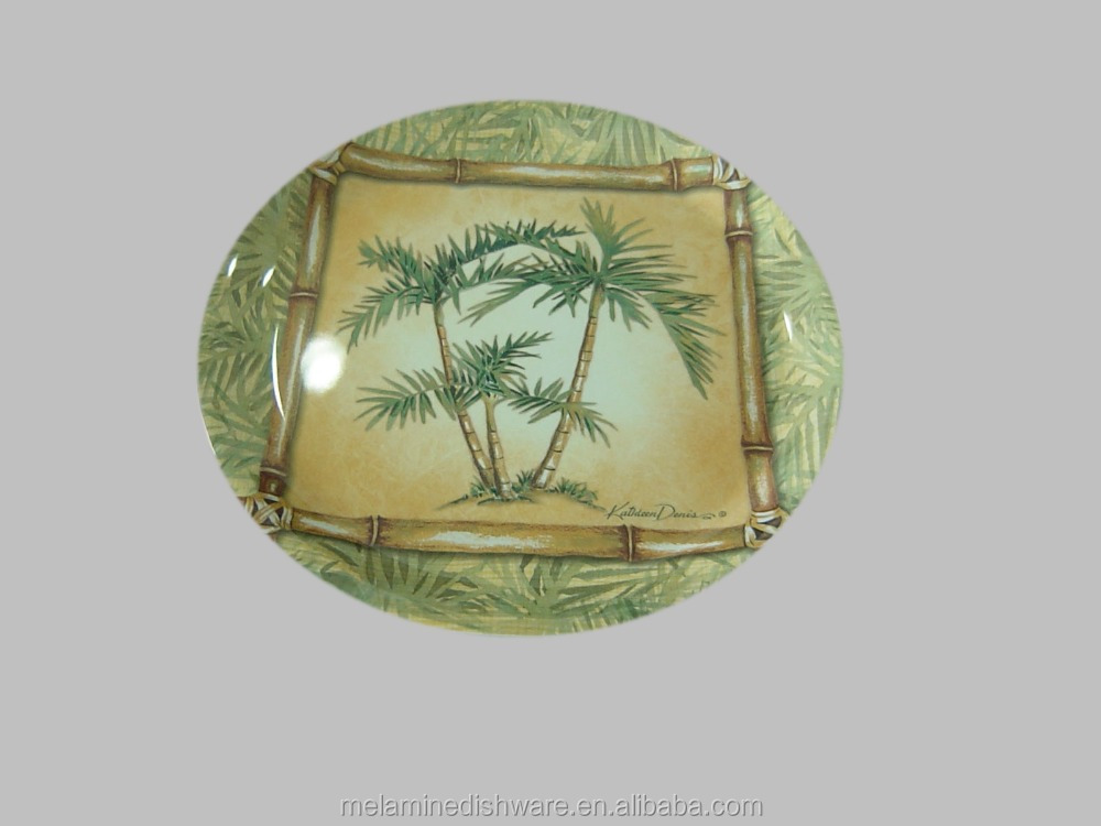 Melamine coconut tree Plate