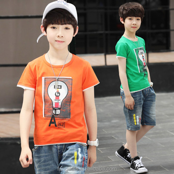 Custom Kids Cartoon Clothes 100% Cotton Casual Popular Kawaii Boys Girls T-shirt
