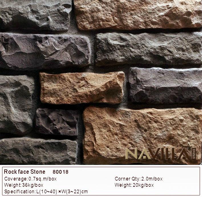 muro de piedra de revestimiento de chapaPiedras artificiales