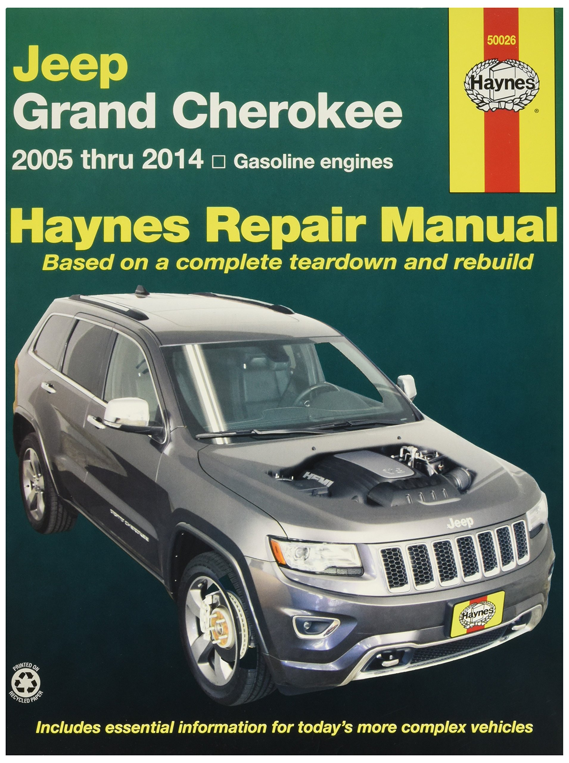 Get Quotations · Haynes 50026 Jeep Grand Cherokee Repair Manual (2005-2014)