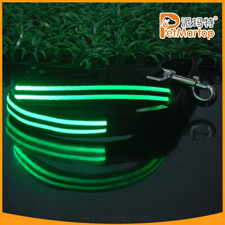 2015 wholesale dog leash led lighted dog lead