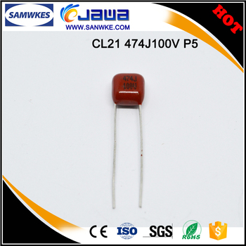 Around The World Film Capacitor Cl21 474j 100v P5mm