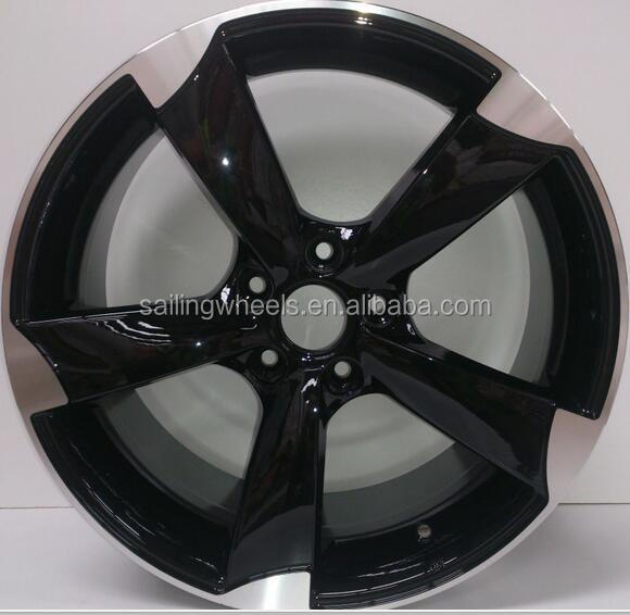 16x7.0 inch black auto car alloy wheel rims for sale