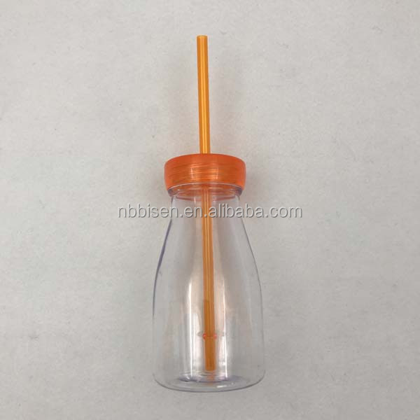 Hot Sale New Fashion Water Bottle Customized Plastic Mini Baby Milk Bottle with Straw