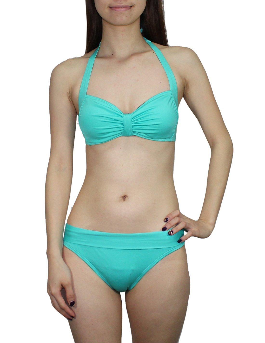 94ee157726db6 Get Quotations · 2 PCS SET Womens Buffalo Bikini Top & Bottom Dri-Fit Surf  Swimsuit S/