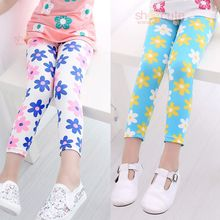 eb5e39d5982e6 girl pants new arrive printing Flower girls leggings Toddler Classic  Leggings 2 14Ybaby girls leggings kids