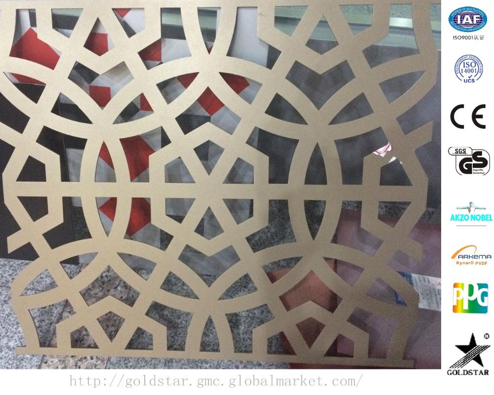 laser cut m tal crans sculpture conception en aluminium composite panneau d coratif panneau. Black Bedroom Furniture Sets. Home Design Ideas