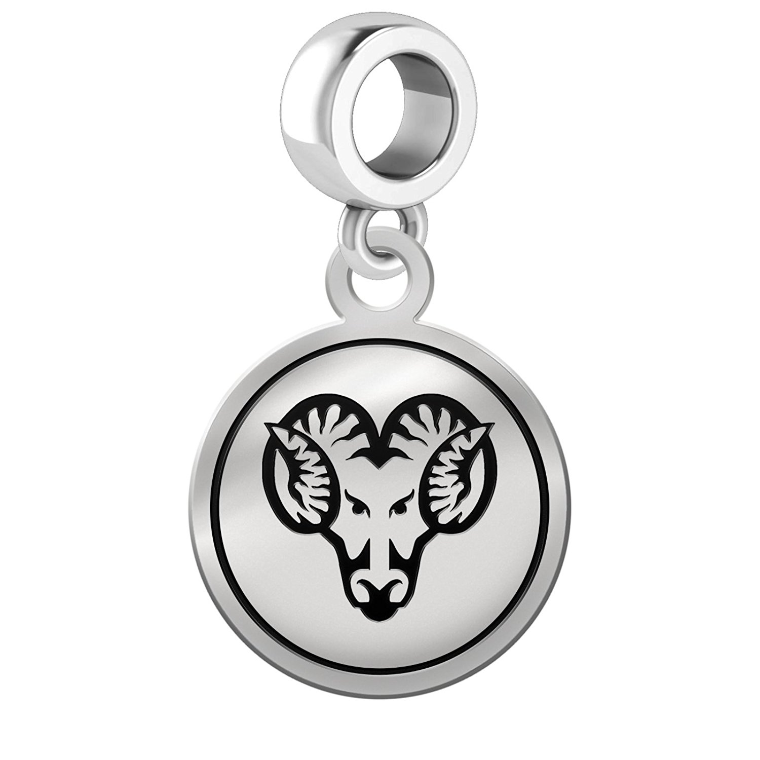 West Chester Golden Rams Border Round Dangle Charm