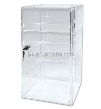 acrylic countertop display case tower 4 shelf