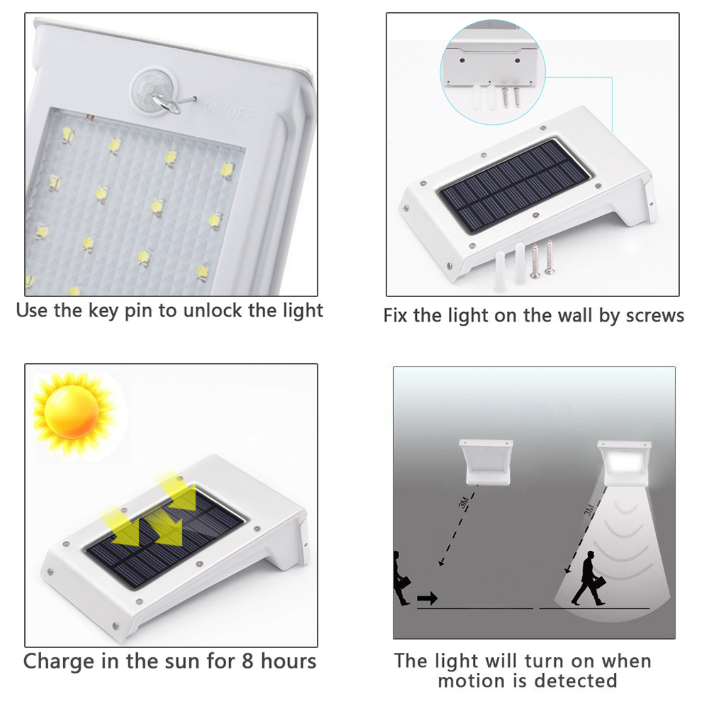 Solar Powered Outdoor Led Motion Sensor Light Led Night Light
