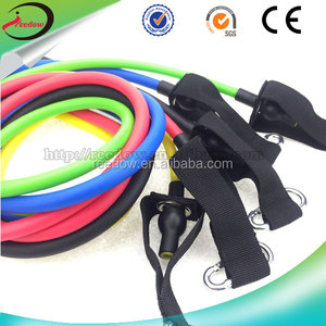 2018 latex Resistance Bands for Fitness Physical Therapy Equipment Elastic Booty Band Set for Legs and Strength training