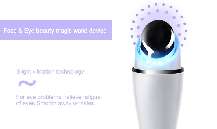 Bergetar LED Light Wand Massager Ionic Magic Kerut Remover Eye Massager