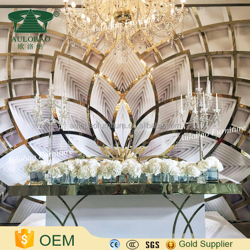Wedding event furniture design stage backdrop stand