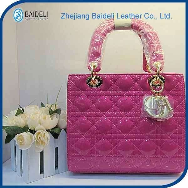 shoulder bag PVC leather used for handbags decoration and sofa