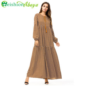 Modern Newest Abaya Collection Islamic Jalabiya Dubai colorful Abaya 2018
