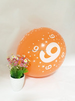 helium gas number 9 birthday party decoration balloons latex balloons
